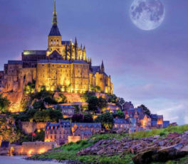 Mont Saint Michel Moon