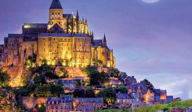 Mont Saint Michel Moon